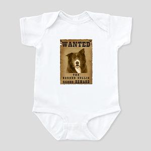 """Wanted"" Border Collie Infant Bodysuit"