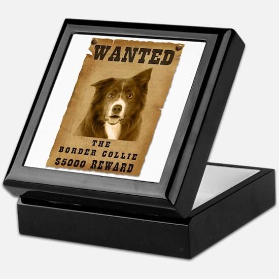 """Wanted"" Border Collie Keepsake Box"