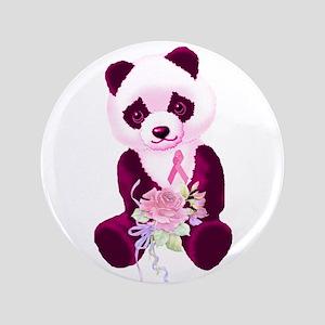 """Breast Cancer Panda Bear 3.5"""" Button"""