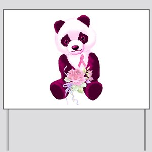 Breast Cancer Panda Bear Yard Sign