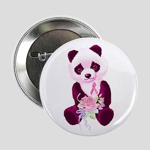 Breast Cancer Panda Bear Button