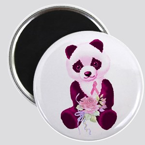 Breast Cancer Panda Bear Magnet