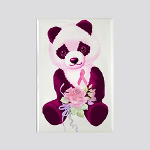 Breast Cancer Panda Bear Rectangle Magnet