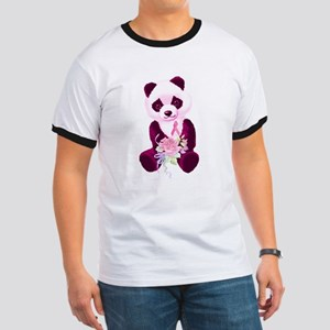 Breast Cancer Panda Bear Ringer T