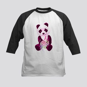Breast Cancer Panda Bear Kids Baseball Jersey