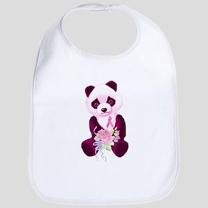 Breast Cancer Panda Bear Bib