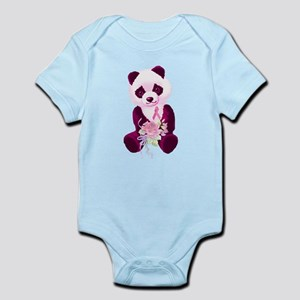 Breast Cancer Panda Bear Infant Bodysuit