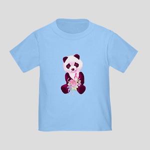 Breast Cancer Panda Bear Toddler T-Shirt