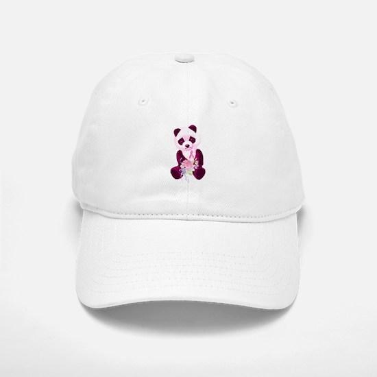 Breast Cancer Panda Bear Baseball Baseball Cap