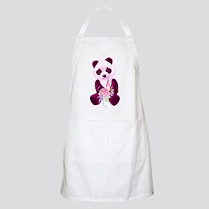 Breast Cancer Panda Bear BBQ Apron