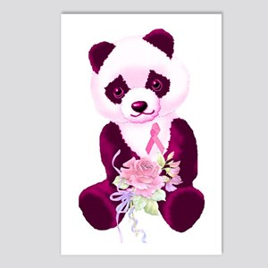 Breast Cancer Panda Bear Postcards (Package of 8)