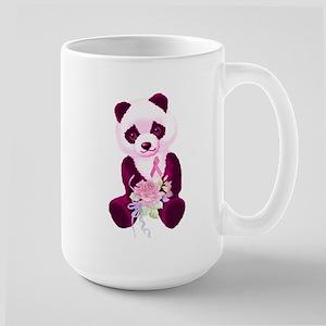 Breast Cancer Panda Bear Large Mug