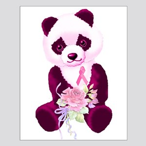 Breast Cancer Panda Bear Small Poster