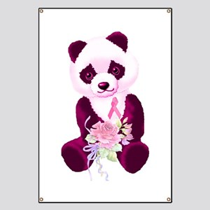 Breast Cancer Panda Bear Banner