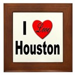 I Love Houston Framed Tile