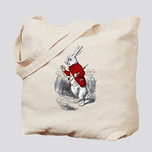 "The White Rabbit ""I'm Late"" Tote Bag"