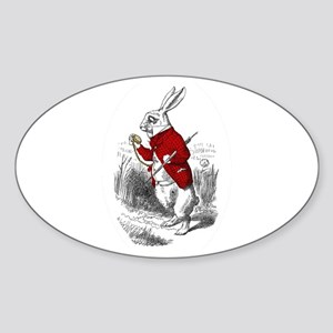 "The White Rabbit ""I'm Late"" Oval Sticker"