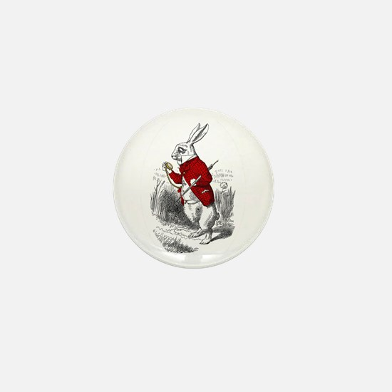 "The White Rabbit ""I'm Late"" Mini Button"