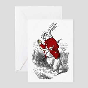 "The White Rabbit ""I'm Late"" Greeting Card"