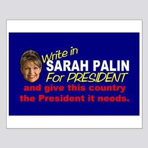 Write In Palin President Small Poster