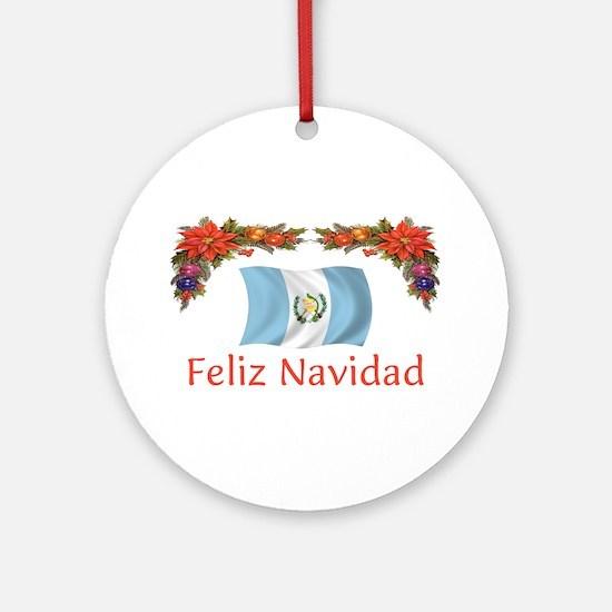 Guatemala Feliz... 2 Ornament (Round)