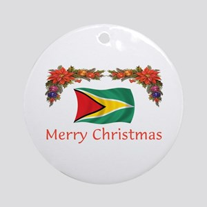 Guyana-Merry Christmas Ornament (Round)