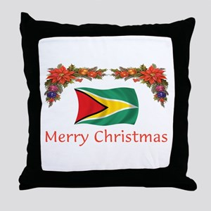 Guyana-Merry Christmas Throw Pillow