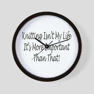 Knitting Is My Life Wall Clock