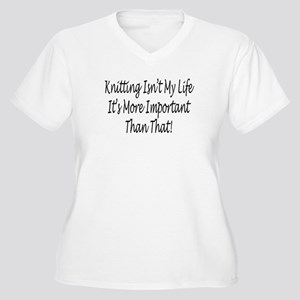 Knitting Is My Life Women's Plus Size V-Neck T-Shi
