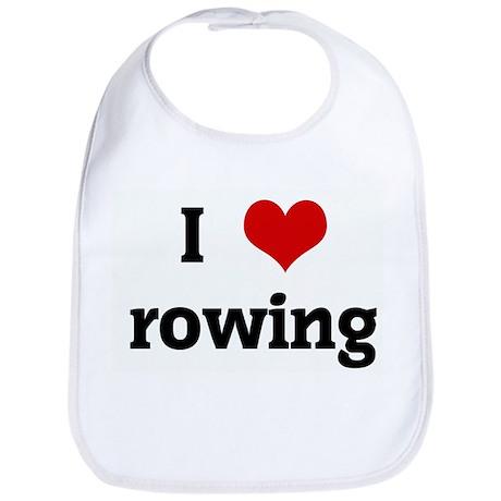 I Love rowing Bib