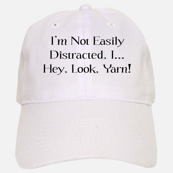 Distracted By Yarn Baseball Baseball Cap