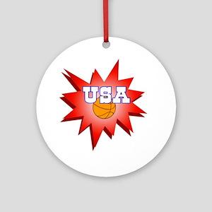 Basketball USA Ornament (Round)
