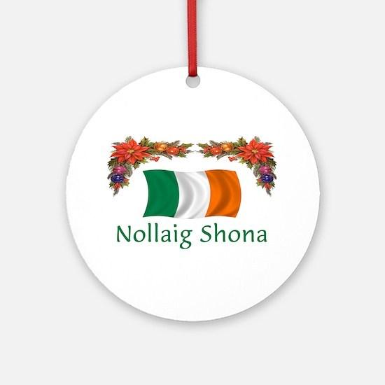 Irish Nollaig Shona 2 Ornament (Round)