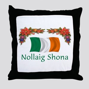 Irish Nollaig Shona 2 Throw Pillow