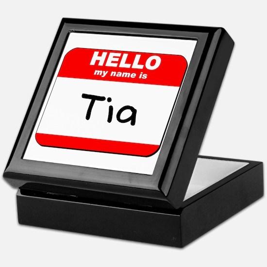 Hello my name is Tia Keepsake Box