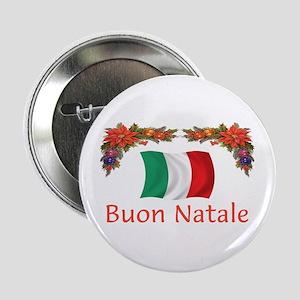 "Italy Buon Natale 2 2.25"" Button"