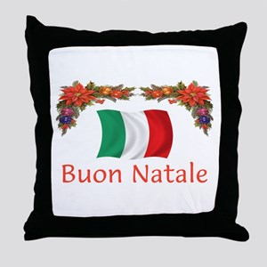 Italy Buon Natale 2 Throw Pillow