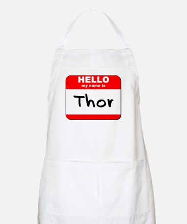 Hello my name is Thor BBQ Apron
