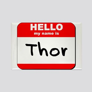 Hello my name is Thor Rectangle Magnet