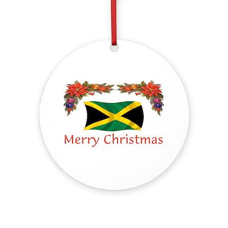 Jamaica Merry Christmas 2 Ornament (Round)