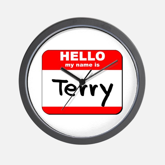 Hello my name is Terry Wall Clock