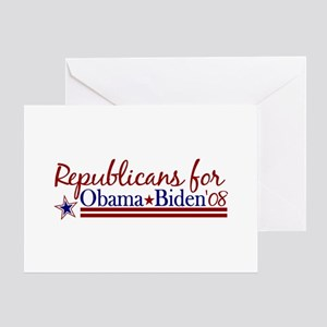 Republicans for Obama Biden Greeting Card