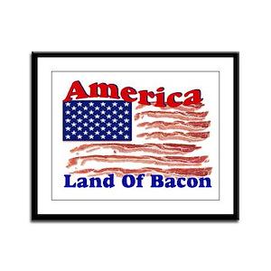 Bacon Flag Framed Panel Print