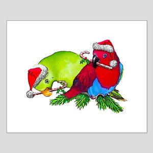 Christmas Parrot Small Poster