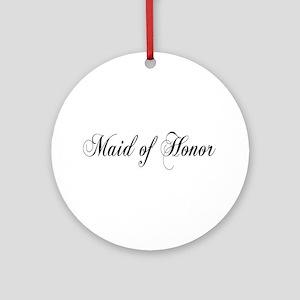 Maid of Honor Keepsake (Round)