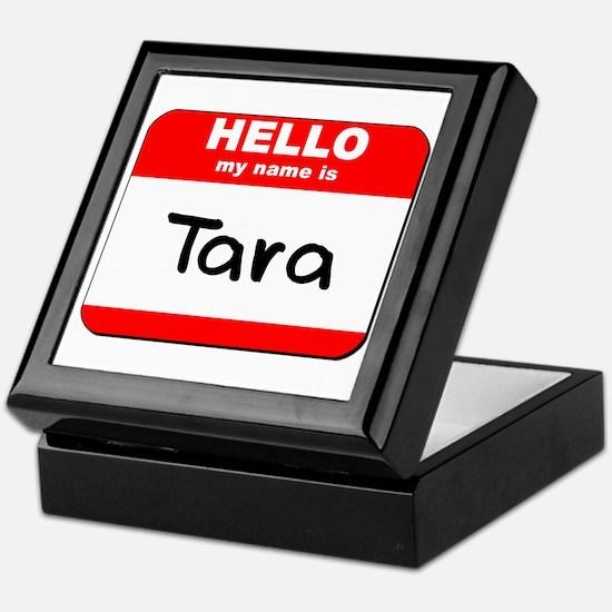 Hello my name is Tara Keepsake Box