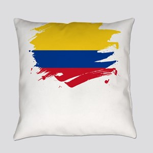 Colombia Paint Splatter Flag Col Everyday Pillow
