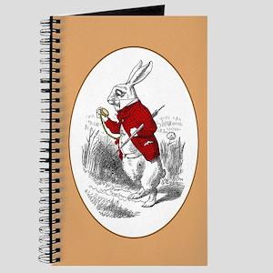 "The White Rabbit ""I'm Late"" Journal"