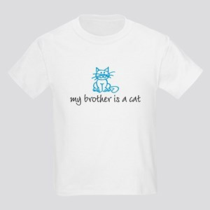 My brother is a cat - blue Kids T-Shirt