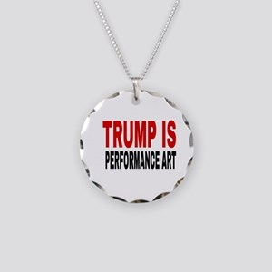 TRUMP IS Necklace Circle Charm
